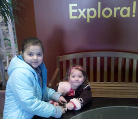 Rebecca and Avery at Explora!